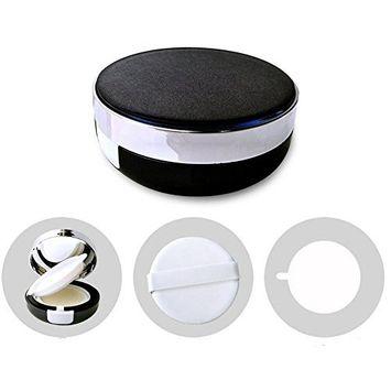 Black Empty Portable Air Cushion Puff Container Dressing Case Powder Puff Box With Sponge and Mirror for BB CC Liquid Foundation Cream