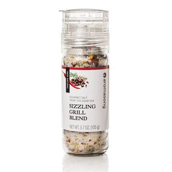 Gourmet Flavored Dead Sea Salt in Grinder, Sizzling Grill Blend, 3.7 oz [Sizzling Grill Blend]