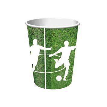 Team Sports Soccer 9oz Paper Cups 8 Per Pack