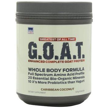 MMUSA Enhanced Organic Goat Protein, Whole Body Formula, 500g, Carribean Coconut