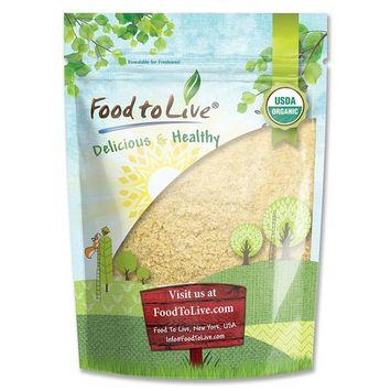 Food to Live Certified Organic KAMUT Khorasan Wheat Flour (Stone Ground Powder, 100% Whole Grain Meal, Non-GMO, Kosher, Bulk) (1 Pound)