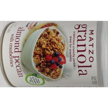 Manischewitz Matzo Granola Almond Pecan With Cranberries KFP 10 Oz. Pk Of 3.