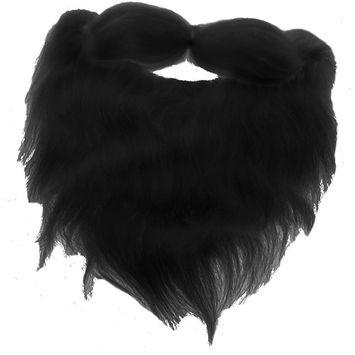 Adults Mens Black Beard Facial Hair Costume Accessory
