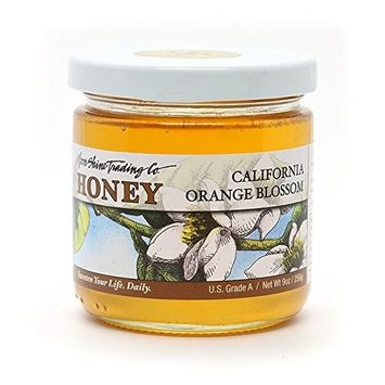Moon Shine Trading Gourmet Honey – RAW UNPROCESSED UNPASTEURIZED UNFILTERED 100% PURE & NATURAL HONEY, 9oz (Orange Blossom)