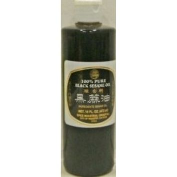 Spice Industrial Group 100% Pure Black Sesame Oil, 16 Ounce