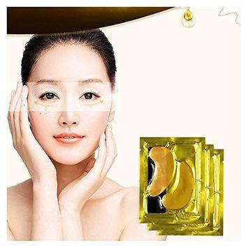 FTXJ 5PCS Moisturizing Beauty Gold Collagen Crystal Eye Mask Eye Zone Pad