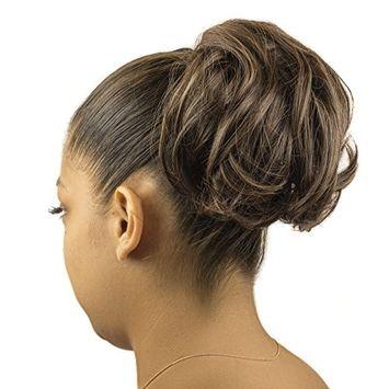 Lux Accessories Brown Faux Hair Extension Cheerleader Ponytail Hair Clip