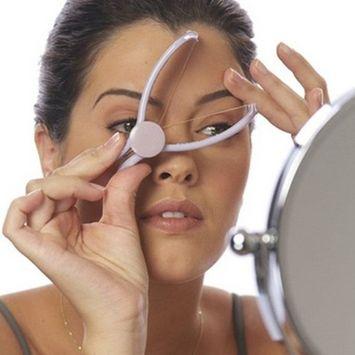 Women Facial Eyebrow Threading Epilator Manual Facial Hair Removed Clip