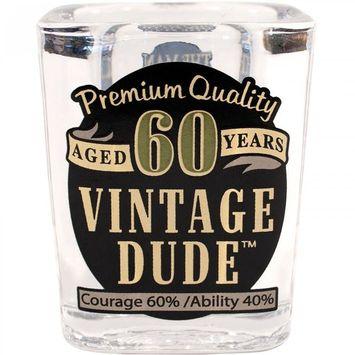 Creative Converting Vintage Dude 60th Birthday Shot Glass