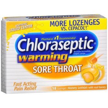 Chloraseptic Sore Throat Lozenges, Honey Lemon 18 ea(pack of 3)