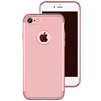 UCLL iphone 7 Plus Case Clear Hard Back Slim Fit Protective Cover Case for Iphone7plus with a Screen Protector