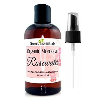 Premium Organic Moroccan Rose Water - 8oz - Imported From Morocco - 100% Pure (Food Grade) No Oils or Alcohol - Rich in Vitamin A & C. Perfect for Reviving, Hydrating & Rejuvenating Your Face & Neck