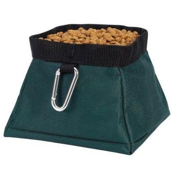 Guardian Gear Polyester Travel Pet Bowl, Hunter Green