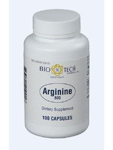 Arginine 600 mg 100 caps by Bio-Tech