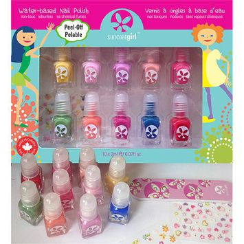Suncoat Girl Water-Based Peel-Off Nail Polish Set - Party Palette