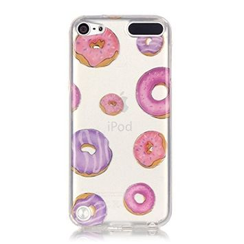 UCLL iPod Touch 6 Case ,iPod Touch 5 Case Donut Flower Design Slim Soft TPU Bumper Protective Durable Shockproof Case For Ipod Touch 5/Touch 6