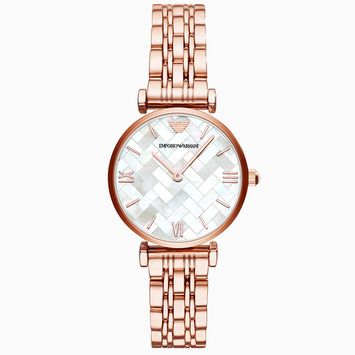 Emporio Armani Women's Rose Gold Mosaic Face Dress Watch AR11110