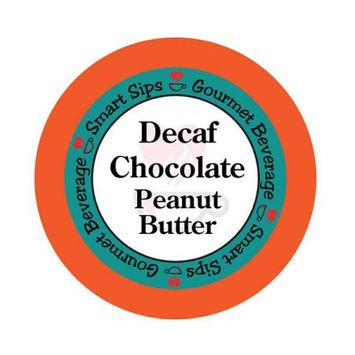 Smart Sips Coffee Decaf Chocolate Peanut Butter Flavored Coffee, 72 Count for All Keurig K-cup Machines, Decaffeinated Flavored Coffee
