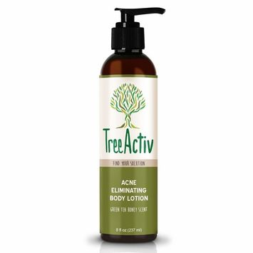TreeActiv Acne Eliminating Body Lotion 8 fl oz   Clears Body, Back, Butt and Shoulder Acne   Anti-Acne Moisturizer   Prevents Future Breakouts   Green Tea and Honey Scent