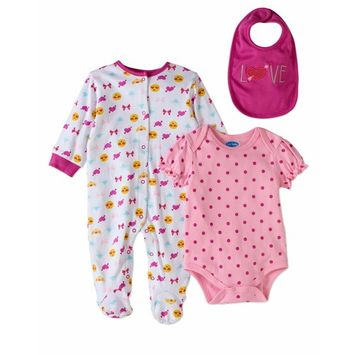 born Baby Girl Take-Me-Home, 3pc Set [baby_clothing_size: baby_clothing_size-6-9m]