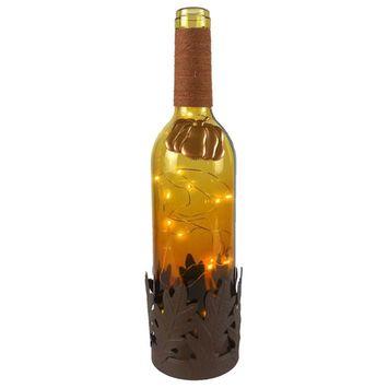 San Miguel Light-Up Seasonal Wine Bottle Table Decor