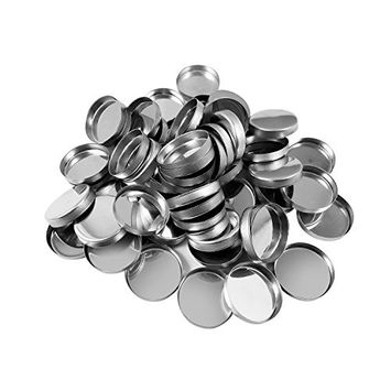 Allwon 56 Pack Empty Round Metal Pans for Eyeshadow Palette Magnetic Makeup Palette (26mm)