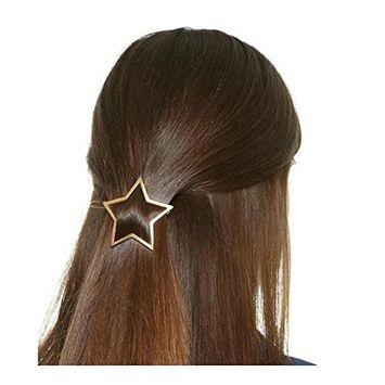Joyci 1Pcs Exquisite Women's Hair Pin Simple Style Star Ponytail Hair Clip (G