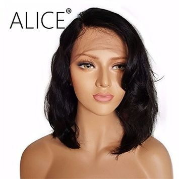 ALICE Lace Front Wigs Short Black Wig, 14