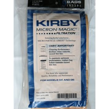 Kirby vac bags (9 count) for Models G4, G5 and Gsix