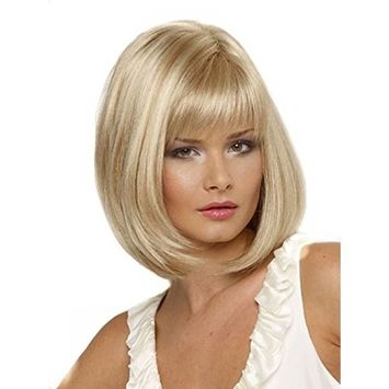 B-G Women's Short Straight Hair Bob Wigs Heat Resistant Synthetic Wigs for Daily Wear with Wig Cap WIG060