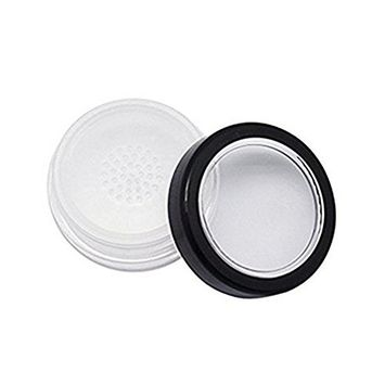 20ml Refillable Empty Make-up Cosmetic Loose Powder Holder Container Case Box with Sifter and Soft Sponge for DIY Black(3Pcs)