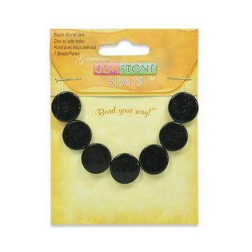Expo International, Inc Expo Black Stone Disk Beads - 15mm - 7 pcs.