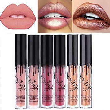Coosa 6PCS Collection of 3 Colors Madly MATTE Lip Gloss Bold & Vivid Color Matte Lipgloss