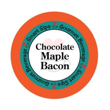 Smart Sips Coffee Chocolate Maple Bacon Flavored Coffee, 72 Count for Keurig K-Cup Machines