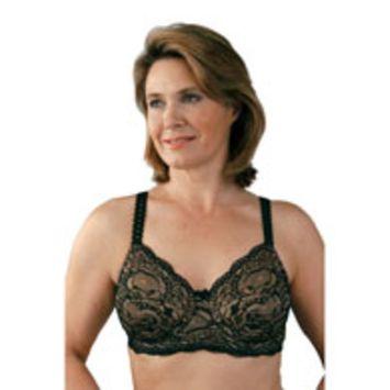 Classique 766 Post Mastectomy Fashion Bra-Black/Skin-36B