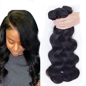 Dream Show Brazilian Human Hair Body Wave 100% Hair Extensions Weft Weave Natural Color 1 Bundles/lot, 100g Total Grade 7A (24')