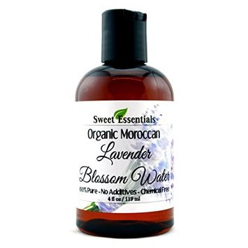 Organic Lavender Blossom Water 4oz | Imported From France | Premium Face Toner | Chemical Free | Gentle | Calming | 100% Natural | Perfect for Reviving, Hydrating and Rejuvenating Your Face and Neck