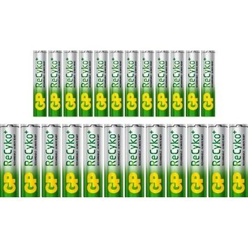 12 Rechargeable AA and 12 Rechargeable AAA Ni-MH GP Pre-Charged Batteries