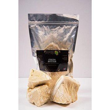 Afrikinky Unrefined Pure Raw Grade A Cocoa Butter 16oz – Skin Nourishing, Moisturizing & Healing For Dry Skin -For Skin Care, Hair Care & DIY Recipes (Ghana) Premium, Virgin Butter
