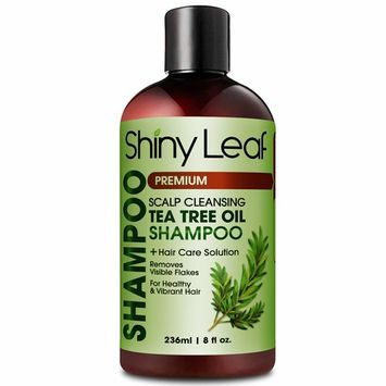 Tea Tree Shampoo with Scalp Cleansing Formula, Natural Anti-Dandruff and Head Lice Repellent, Made with 100% Pure Tea Tree Essential Oil, For Itchy and Dry Scalp, Paraben-Free, Sulfate-Free, 8 oz