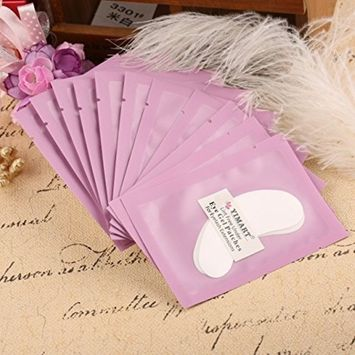 Yimart Professional Lint Free Under Eye Gel Pad Patches Eyelash Extensions 50 Pairs