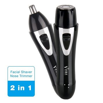 VereBeauty Hair Remover for Women, 2 in 1 Facial Removal and Nose Trimmer