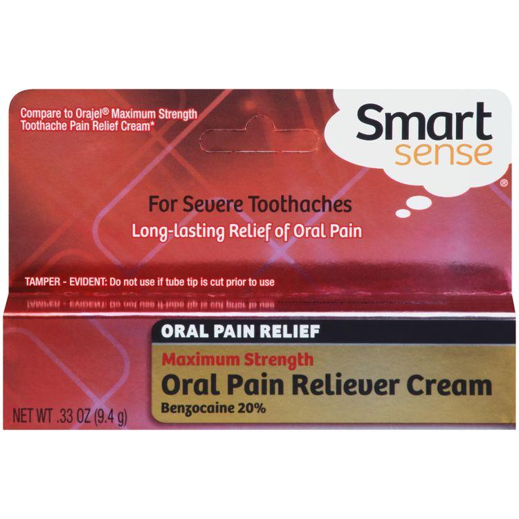 Smart Sense Maximum Strength Cream Oral Pain Reliever 0.33 PEG - mygofer
