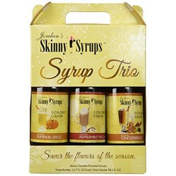 Skinny Syrup Holiday Trio Pumpkin Spice,, Peppermint Mocha, Gingerbread
