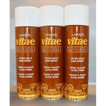 Lamaur Vita-e Ultra Hold Professional Hairspray (3 pack)