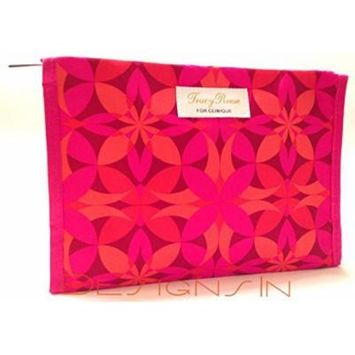 Clinique Tracy Reese Cosmetic Bag in Red, Orange, Pink Floral Pattern