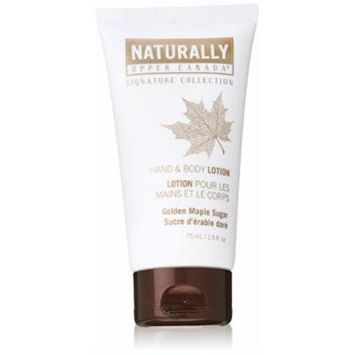 Upper Canada Naturally Signature Collection Hand and Body Lotion, Golden Maple Sugar, 2.5 Fluid Ounce