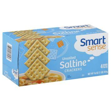 Smart Sense Crackers, Saltine, Unsalted, 4 packs [16 oz (1 lb) 454 g)] - KMART CORPORATION