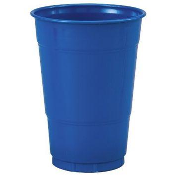 Creative Converting True Blue 16 oz Plastic Cups - 20 ct