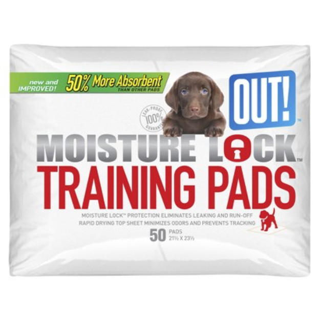 """OUT! International Simply OUT! Dog Housetraining Pads 50-pk. - 21x23"""""""